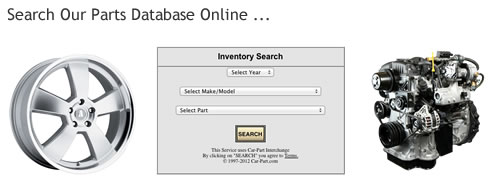 Search for Auto Parts Online